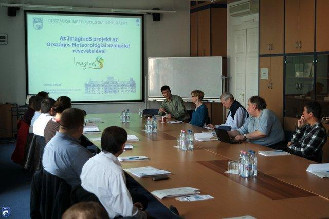 Picture of the User workshop hosted by OMSZ on 4th May in Budapest.